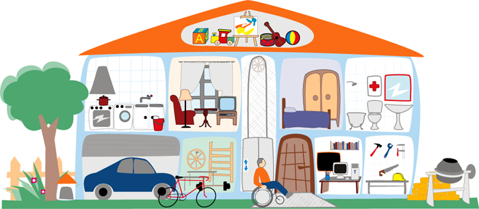 La casa y los muebles las preposiciones de lugar site - Cosas para mi casa ...